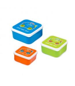 Trunki posudice za užino plava/ narančasta/zelena